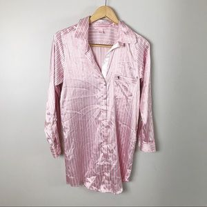 Victoria's Secret Pink Satin Stripe Sleep Shirt